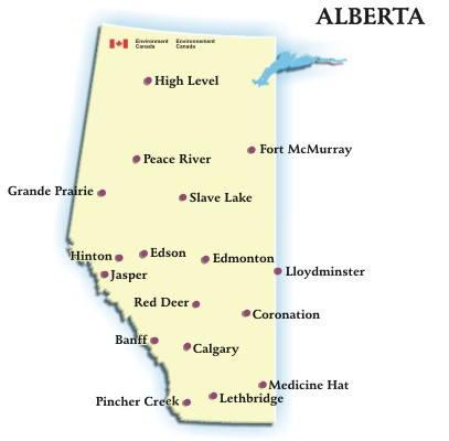 Need alberta weather have a look at the alberta canada weather map