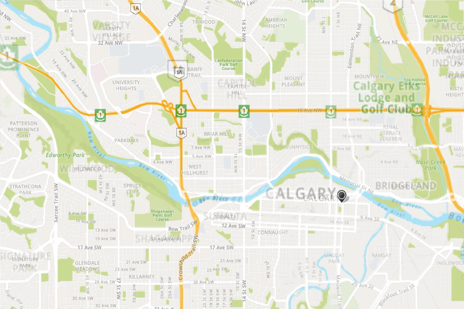 Mapquest Calgary