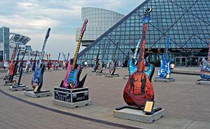 Rock Guitars on Display