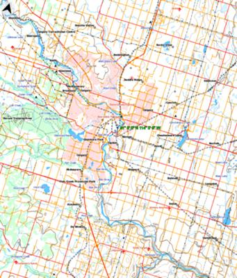 Topographic Map of Calgary