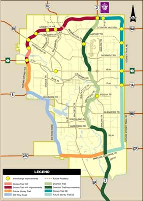 City of Calgary Stoney Trail Map