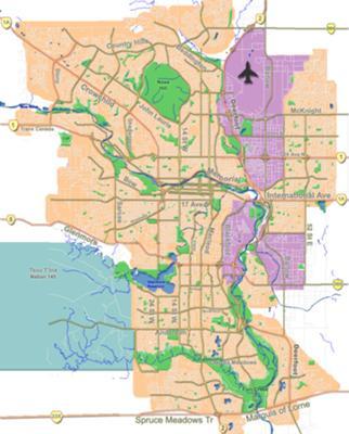 Calgary Map Wikipedia