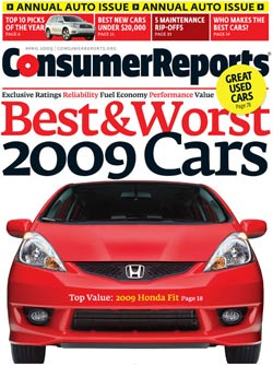 Consumer Reports Car Issue Every April
